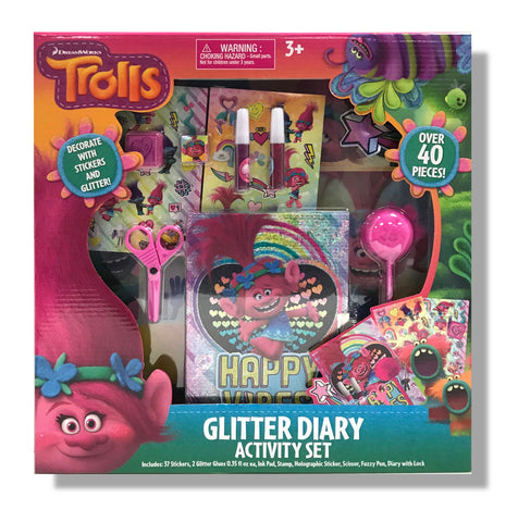 Trolls Glitter Diary Activity Set
