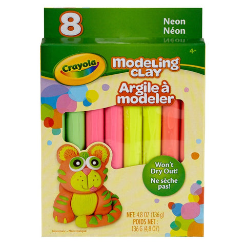 Crayola 8-Count Neon Color Modeling Clay