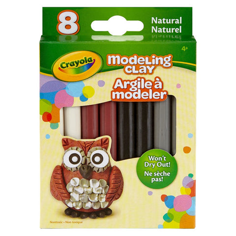 Crayola 8-Count Natural Colors Modeling Clay