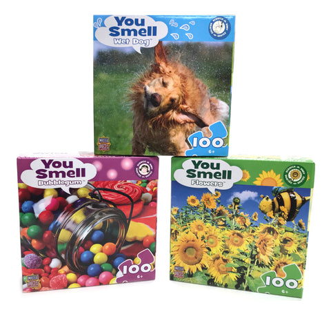 Scratch and Sniff 100-Piece Puzzles - Assorted in Case
