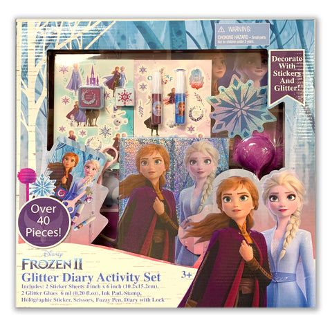 Frozen 2 Glitter Diary Stationery Set