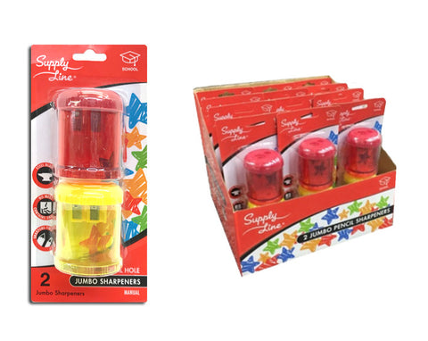 The Supply Line 2-Count Jumbo Pencil Sharpeners