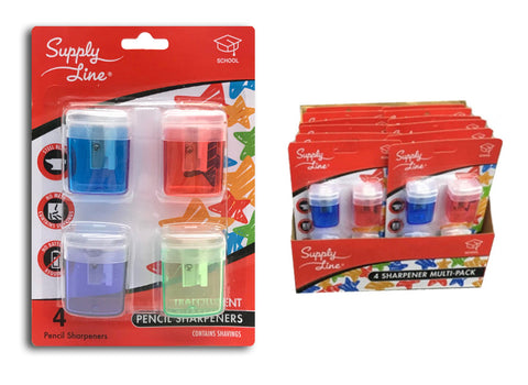 The Supply Line 4-pack Pencil Sharpeners w/ Catch