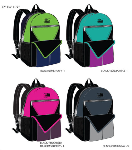 Prosport Assorted Large Backpacks with Velcro Front Pocket