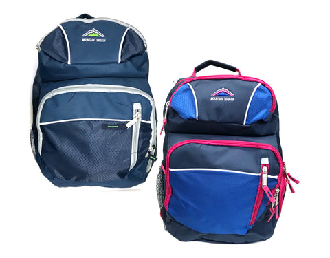 "Mountain Terrain 17"" 5-Compartment Backpacks in Assorted Colors"