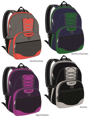 Prosport Assorted Double-Pocket Backpacks with Bungie Front