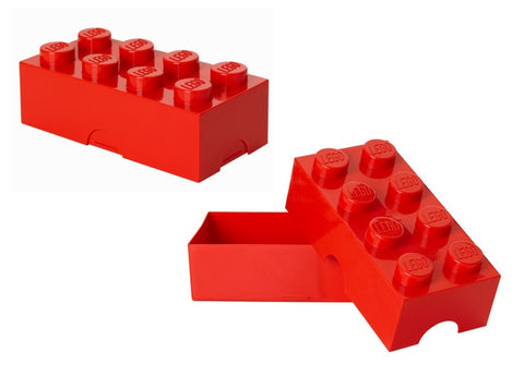 Red Lego Piece Storage Container/Lunch Box
