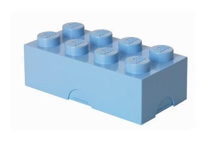 Sky Blue Lego Piece Storage Container/Lunch Box
