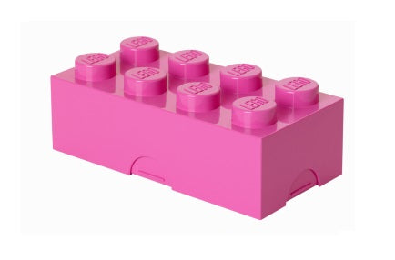 Pink Lego Piece Storage Container/Lunch Box