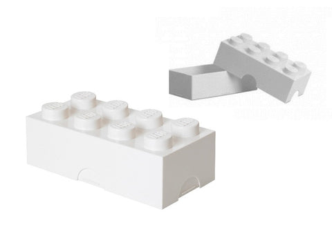 White Lego Piece Storage Container/Lunch Box