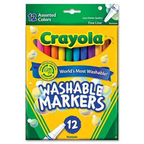 Crayola 12-Count Fine Washable Markers