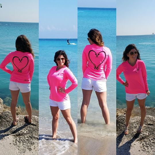 Heart Hook Performance Hot Pink Long Sleeve