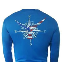 Nautical Patriotic Marlin Tail Signature Series Mens Performance Blue