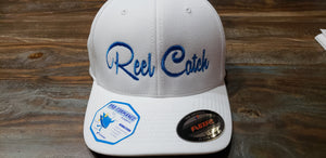 White with Royal Logo Performance Hat