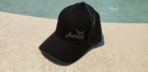 Marlin Black Silver Trucker Double Mesh Snapback