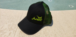 Marlin Neon Yellow Trucker Double Mesh Snap-back