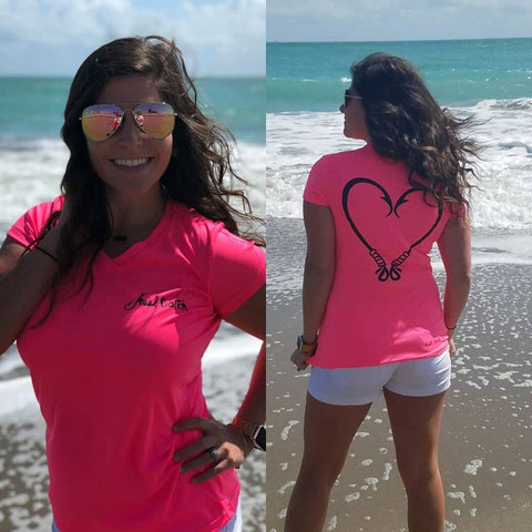 Heart Hook Performance Hot Pink Short Sleeve