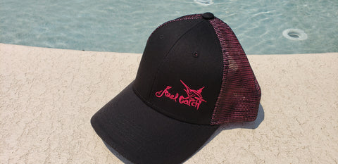 Marlin Black Pink Trucker Double Mesh Snap-back