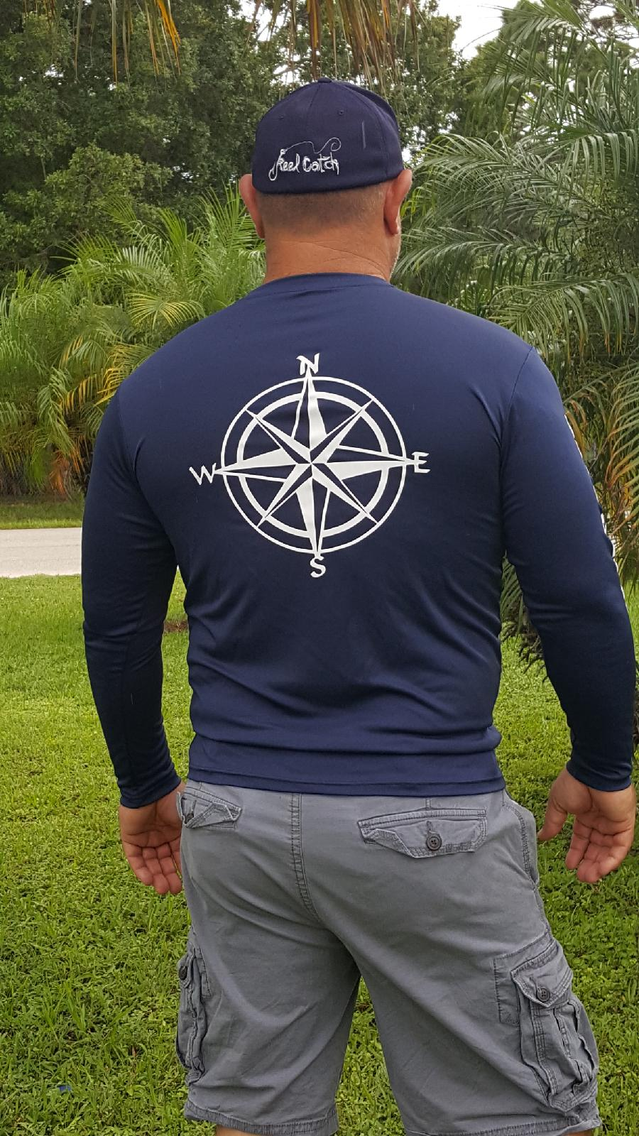 Nautical Compass Mens Performance Navy