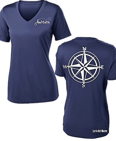 Nautical Compass- Ladies Performance Navy