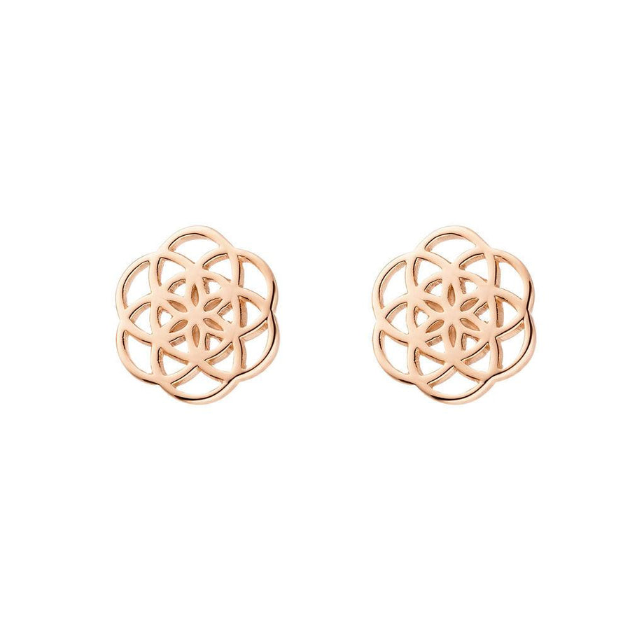 FLOWER OF LIFE rosègold | Ohrstecker
