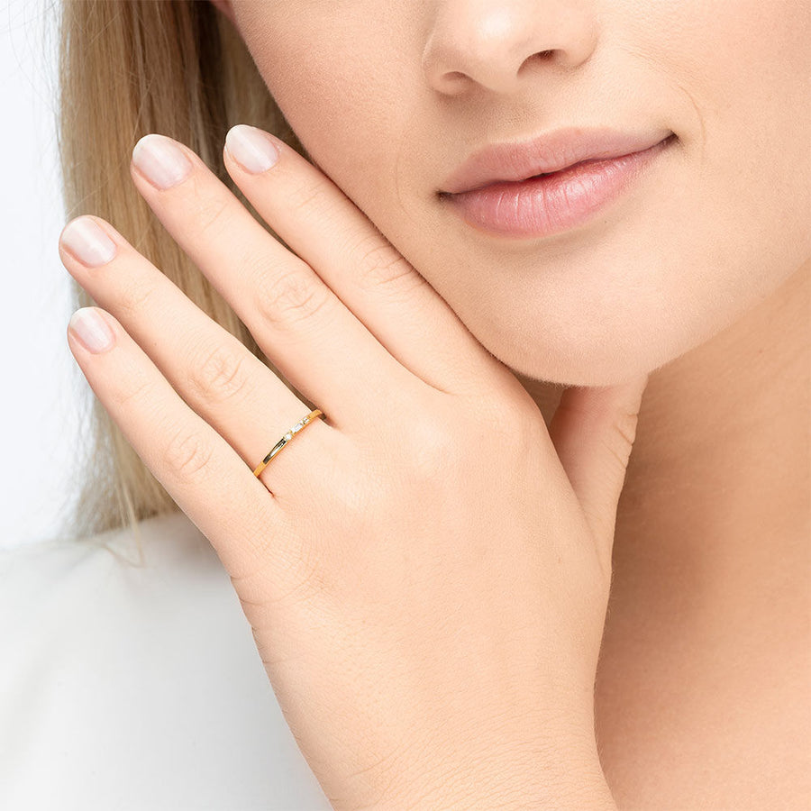SPARKLE small | Ring | gold