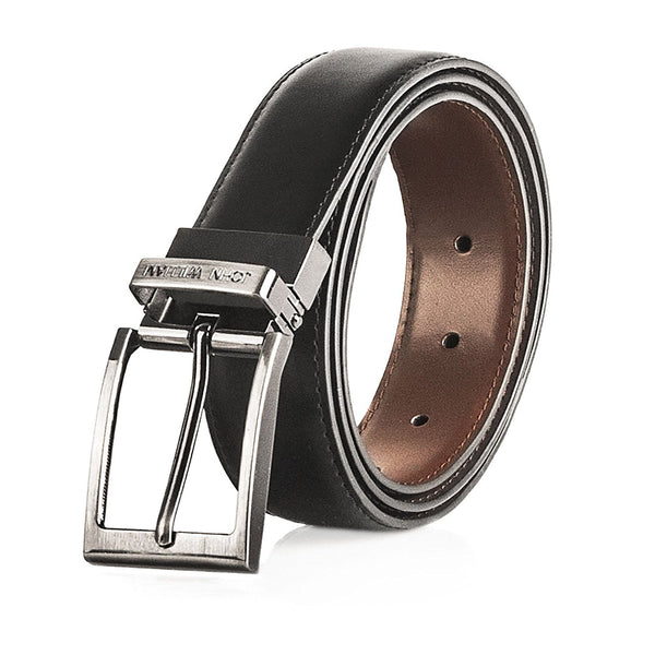 Men's Genuine Leather Swivel Reversible Black & Brown Dress Belt: Mens belts for Business or Formal Wear - Galleria Brands