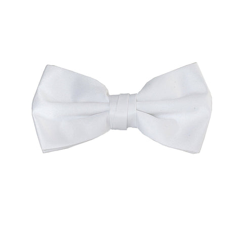 Luther Pike Mens Pre Tied Bowtie Tuxedo Bow Tie (White) - Galleria Brands