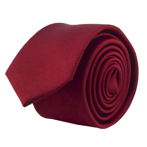 100% Silk Handmade Red 2 Inch Skinny Tie Men's Necktie - Galleria Brands