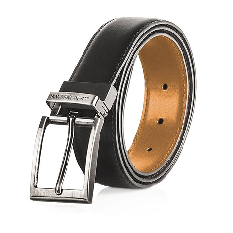 Men's Genuine Leather Swivel Reversible Black & Tan Dress Belt: Mens belts for Business or Formal Wear - Galleria Brands