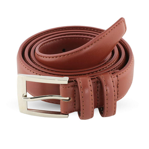 Burnt Amber Leather Belts For Men - Mens Brown & Black Belt - Dress Casual Men's Belt in Gift Bag - Galleria Brands