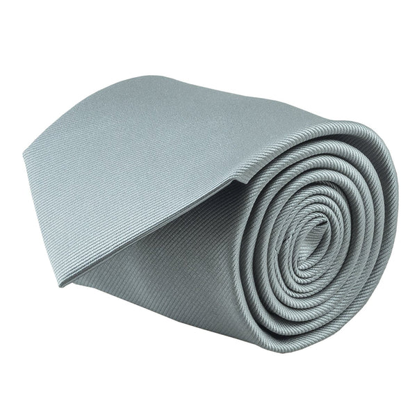 100% Silk Handmade Grey Solid Color Tie Men's Necktie - Galleria Brands