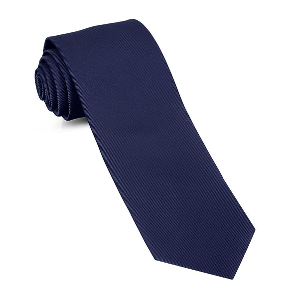 Handmade Skinny Woven Slim Mens Tie By Luther Pike: Thin Navy Blue Ties For Men, Stylish For Every Outfit - Galleria Brands