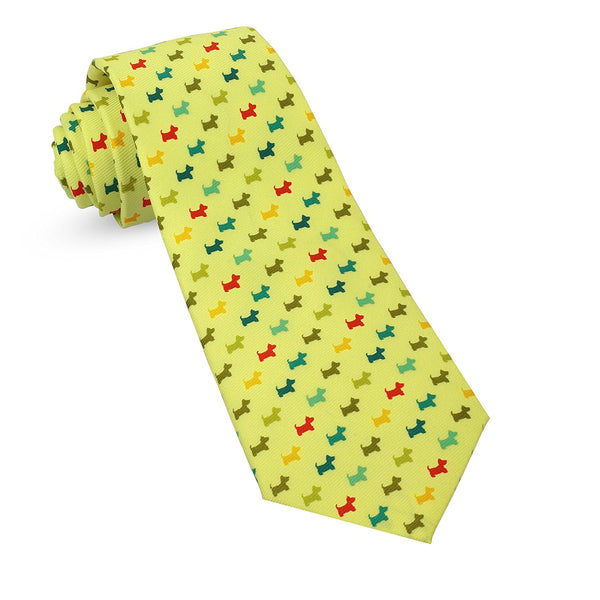 Dogs Summer Spring Mens Premium Woven Conversational Novelty Neckties | Microfiber Ties For Men: Fun, Sophisticated – Stylish Accessory For Casual And Formal Outfits – Unique Designs And Patterns - Galleria Brands