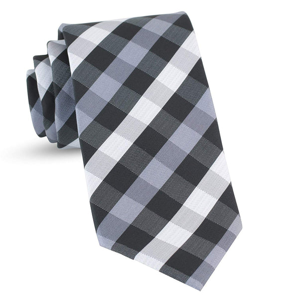 Handmade Plaid Ties For Men Skinny Woven Black Slim Gingham Mens Ties: Thin Tie & Necktie, Stylish Neckties For Every Outfit - Galleria Brands