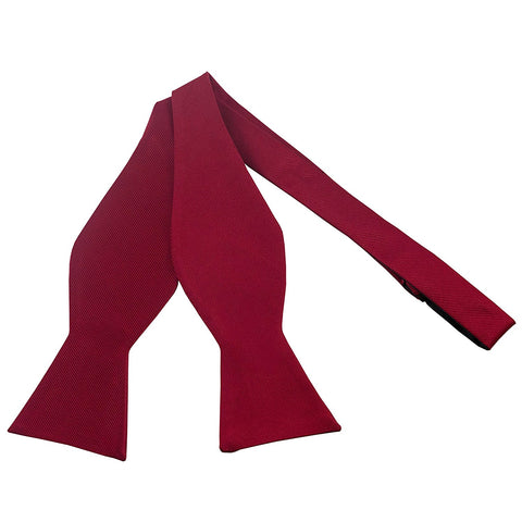 100% Silk Red Self Tie Bow Tie - Galleria Brands
