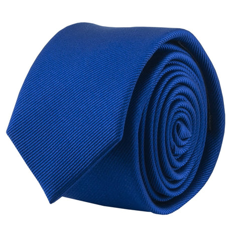 100% Silk Handmade Royal Blue 2 Inch Skinny Tie Men's Necktie - Galleria Brands