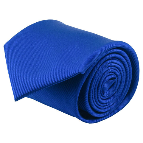 100% Silk Handmade Royal Blue Solid Color Tie Men's Necktie - Galleria Brands