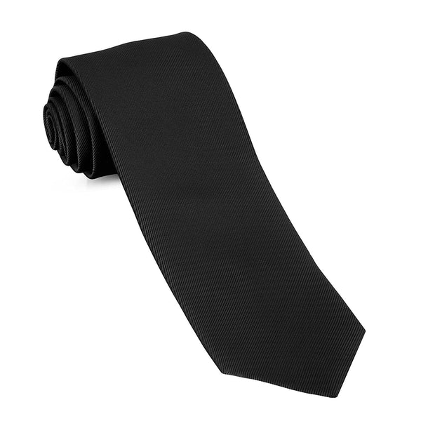 Handmade Skinny Woven Slim Mens Tie By Luther Pike: Thin Black Ties For Men, Stylish For Every Outfit - Galleria Brands