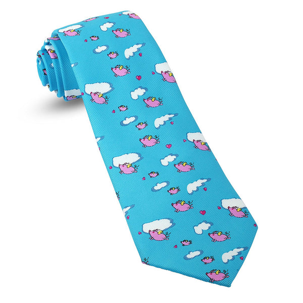 When Pigs Fly Optimist Funny Mens Premium Woven Conversational Novelty Neckties | Microfiber Ties For Men: Fun, Sophisticated – Stylish Accessory – Unique Designs And Patterns - Galleria Brands