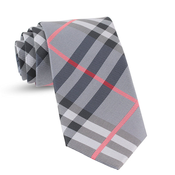 Handmade Plaid Ties For Men Skinny Woven Check Grey Gray Slim Gingham Mens Ties: Thin Tie & Necktie, Stylish Neckties For Every Outfit - Galleria Brands