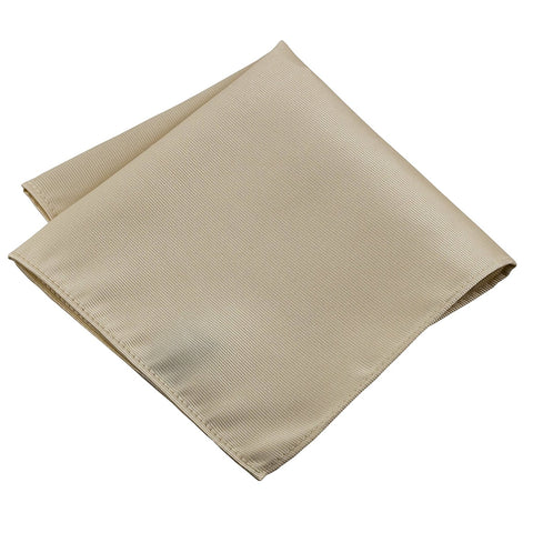 100% Silk Woven Ivory Pocket Square Handkerchief - Galleria Brands