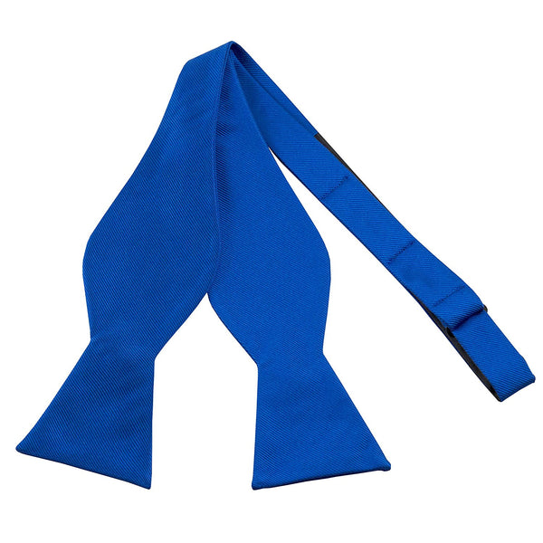 100% Silk Royal Blue Self Tie Bow Tie - Galleria Brands