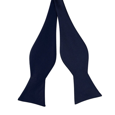 Luther Pike Self Tie Bowtie Tuxedo Bow Tie (Navy Blue) - Galleria Brands