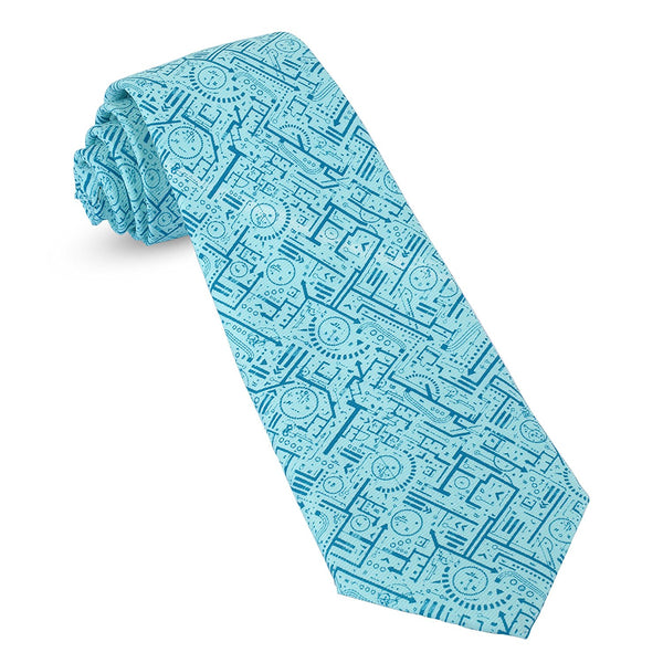 Architect Drawing Design Mens Premium Woven Conversational Novelty Neckties | Microfiber Ties For Men: Fun, Sophisticated – Stylish Accessory – Unique Designs And Patterns - Galleria Brands