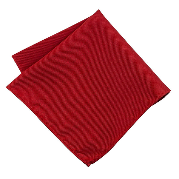 100% Silk Woven Red Pocket Square Handkerchief - Galleria Brands
