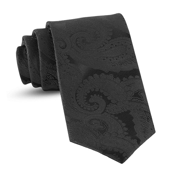 Handmade Paisley Ties For Men Skinny Woven Slim Black Mens Tie: Thin Necktie, Stylish Neckties For Every Outfit - Galleria Brands