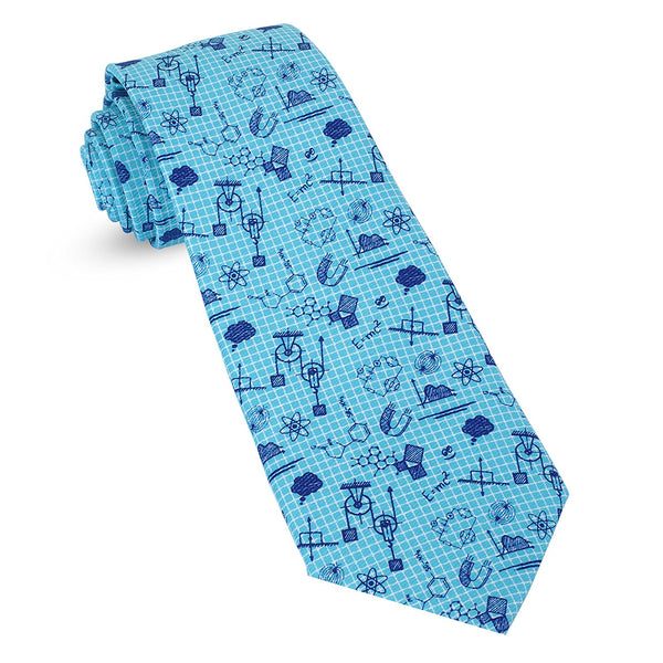 Blue Grid Paper Physics Science Math Mens Premium Woven Conversational Novelty Neckties | Microfiber Ties For Men: Fun, Sophisticated – Stylish Accessory – Unique Designs And Patterns - Galleria Brands