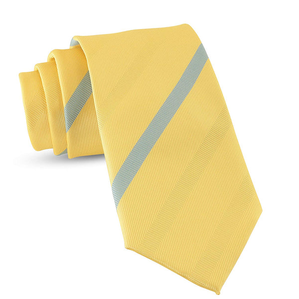 Handmade Striped Ties For Men Skinny Woven Slim Thin Yellow Gold Mens Stripes Tie: Thin Necktie, Stylish Neckties For Every Outfit - Galleria Brands