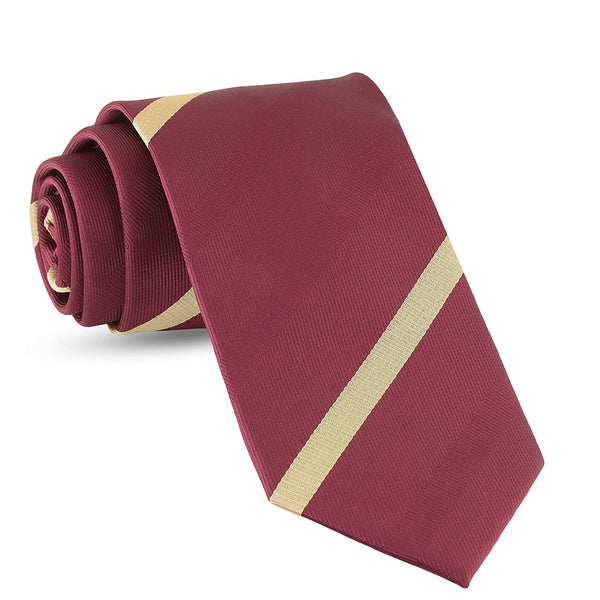 Handmade Striped Ties For Men Skinny Woven Slim Thin Burgundy Mens Stripes Tie: Thin Necktie, Stylish Neckties For Every Outfit - Galleria Brands